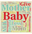 Should I Breastfeed My Baby text background vector image vector image