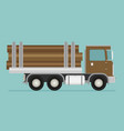 timber wood truck vector image vector image