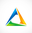 triangle 3d abstract color logo vector image