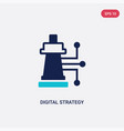 two color digital strategy icon from general-1 vector image vector image