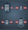 veterans day patriotic banners vector image