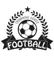 Vintage emblems labels Football icons Soccer vector image vector image