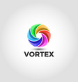 vortex logo with 3d style vector image vector image