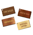Wooden boards signs isolated on white background vector image vector image