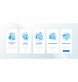 workplace design onboarding mobile app page vector image vector image