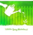Gardening background vector image