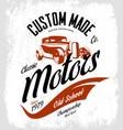 vintage custom hot rod motors logo concept vector image