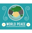 World peace concept vector image