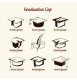 Academic cap vector image