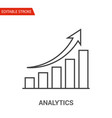 analytics icon thin line vector image vector image