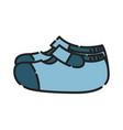 baby shoes icon design clip art color icon vector image