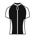 bike zipper clothes icon simple style vector image vector image