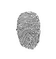 black fingerprint icon on white background vector image vector image