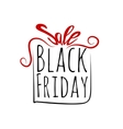 Black Friday sales labe gift bowl tag vector image vector image