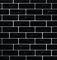 brick wall black vector image