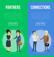 business cooperation and partnership flyers vector image