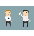Businessman leaving his competitor without money vector image vector image