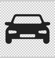car icon in flat style automobile vehicle on vector image vector image