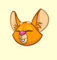 cartoon chipmunk head vector image vector image
