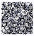 cartoon doodles space toned vector image vector image