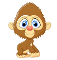 Cartoon monkey cute posing vector image