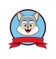 cat head cartoon vector image