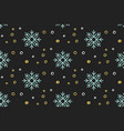 christmas seamless pattern with snowflakes snow vector image