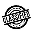 classified rubber stamp vector image vector image