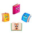 collection book with different expression vector image vector image
