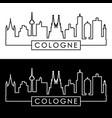 cologne skyline linear style editable file vector image