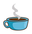 delicious coffee cup isolated icon vector image