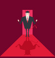 devil businessman walk into the office vector image