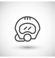 Diving helmet line icon vector image vector image