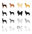 doberman beagle pomeranian and other web icon vector image vector image