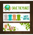 Eco Banners Set vector image vector image