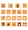 egyptian culture on a white background vector image vector image