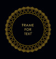 elegant golden frame in trendy outline style vector image vector image