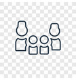 family concept linear icon isolated on vector image