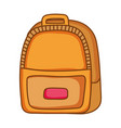 fashion backpack leather vector image
