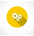 Flat icon of gears vector image vector image
