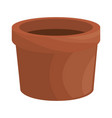 flower pot icon vector image vector image