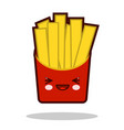 funny french fries cartoon character icon kawaii vector image vector image