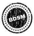 grunge textured bdsm stamp seal vector image