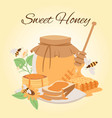 honey products cartoon honey vector image