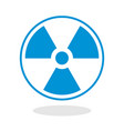 Icon of a radioactive symbol