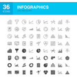 infographics line web glyph icons vector image vector image