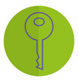 key door isolated icon vector image vector image