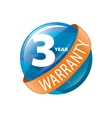 logo 3 years warranty vector image vector image