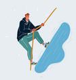 man climbing on top concept target concept vector image
