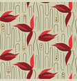 red tulips seamless pattern floral design vector image